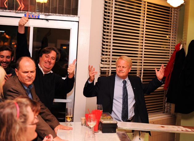 There was much to cheer about Tuesday night at the Paradise Café victory party for Councilmen Randy Rowse and Dale Francisco.