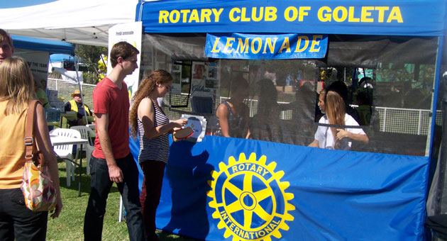 The Rotary Club of Goleta will be selling ice-cold lemonade from its booth at the California Lemon Festival this weekend at Girsh Park in Goleta. (Rotary Club of Goleta photo)