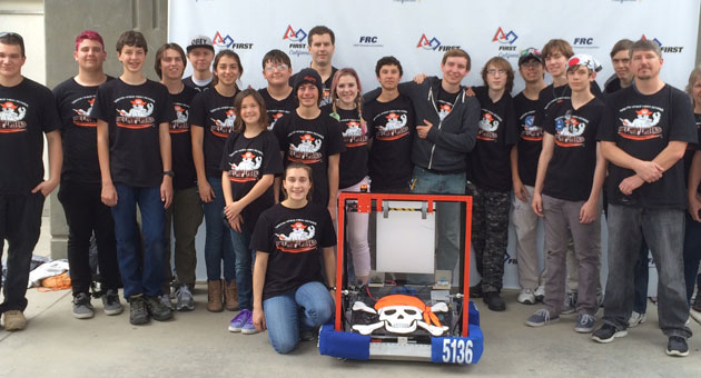 Victorious in Madera, the MechaPirates of Santa Ynez Valley Union High School will be traveling to St. Louis next month for the FIRST World Robotics Championship. (Andy Weber photo)