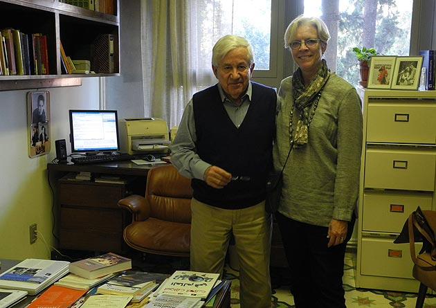 Anabel Ford visits eminent sociologist Samir Khalaf in his office at the American University of Beirut in Lebanon.