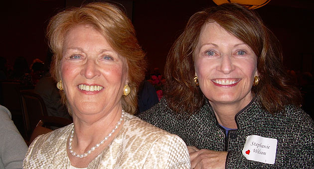 <p>Actress and author Fannie Flagg, with sponsor Stephanie Wilson, was one of the keynote speakers at the Girls Incorporated of Greater Santa Barbara luncheon.</p>