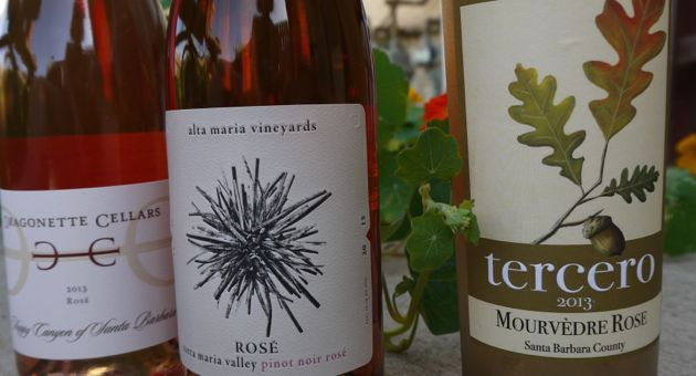 <p>A rosé by any other name can be found at, from left, Dragonette Cellars, Alta Maria Vineyards and Tercero Wines.</p>