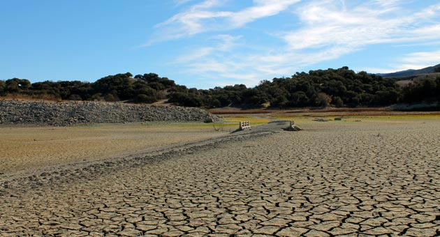 As Santa Barbara County's prolonged lack of rain takes its toll, more of Lake Cachuma's bed has been emerging as the water level recedes. (Urban Hikers photo)