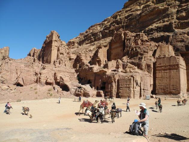 A recent visit to Petra may have been during the off-season, but the place was packed.