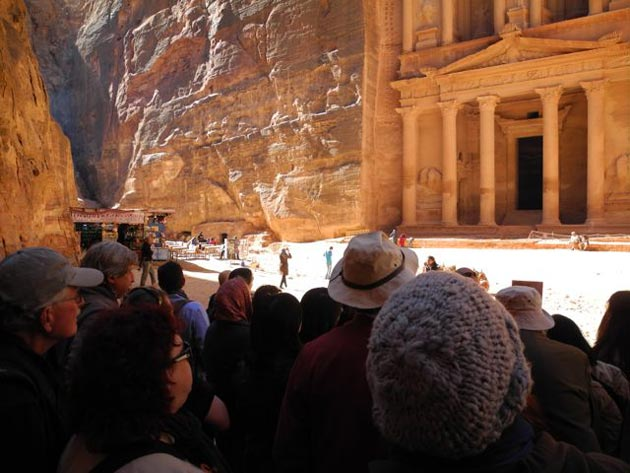 <p>The Treasury in Jordan&#8217;s ancient city of Petra remains a top draw among tourists who flock to the World Heritage site.</p>