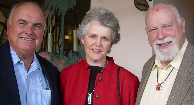 David Borgatello, left, and Francie and Ken Jewesson were among the Friendship Center of Santa Barbara supporters who attended the 13th Annual Festival of Hearts at Fess Parker's DoubleTree Resort.
