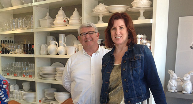 <p>Hudson | Grace store managers Johanna Clavin and Doug McNatton provide personal — and personable — service at the Montecito Country Mart location.</p>
