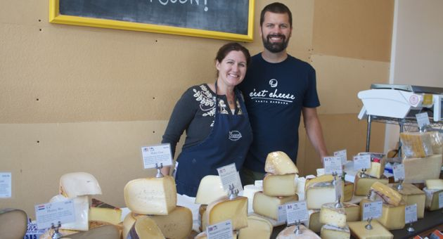 For Kathryn and Michael Graham, their C'est Cheese is a whole lot more than the remains of a dairy. Their burgeoning business is increasingly the center of a thriving culinary neighborhood in and around the 800 block of Santa Barbara Street. 'Our passion for food extends beyond cheese and salumi,' Kathryn Graham says. 'With this expansion we now have the opportunity to dive into completely new territories.' (Lili De Voto / Noozhawk photo)