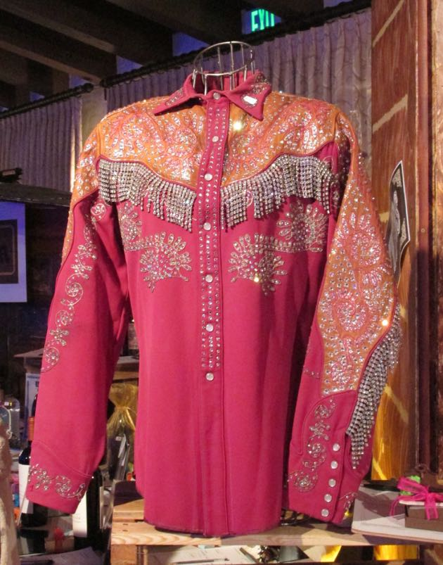 An exquisite Western shirt was a popular bid item in the silent auction.