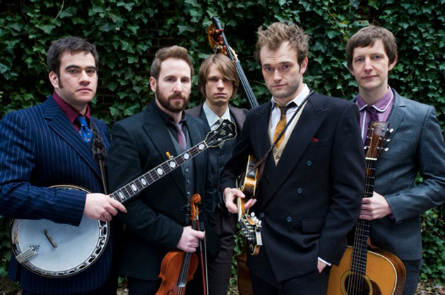The Punch Brothers — from left, Noam Pikelny, Gabe Witcher, Paul Kowert, Chris Thile and Chris Eldridge — will perform at the Lobero Theatre on Tuesday night. (Punch Brothers photo)