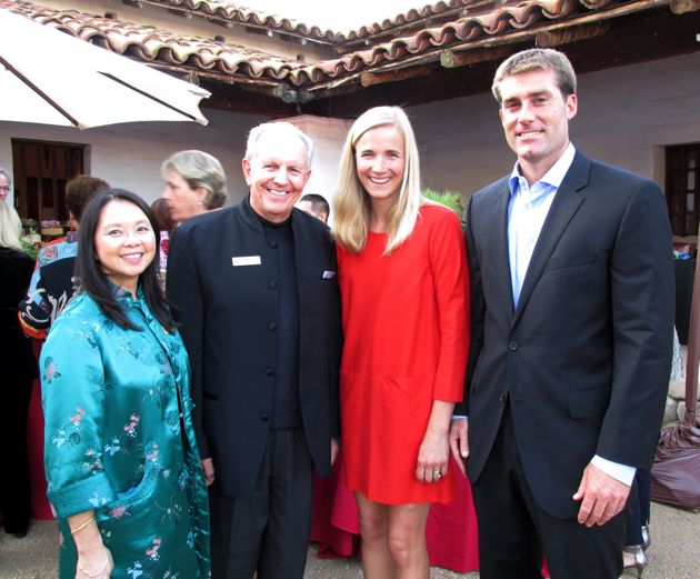 <p>From left, Santa Barbara Trust for Historic Preservation Good Fortune event chairwoman Terease Chin, board president John Poucher, Janelle Parsons and Kevin Nimmons.</p>