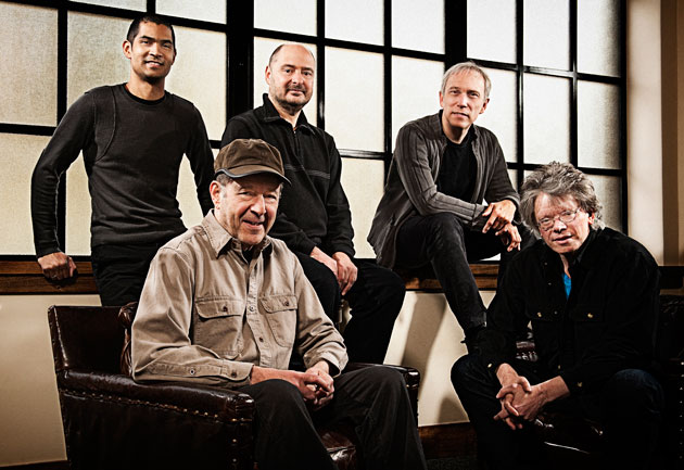 Thursday at UCSB's Campbell Hall, the Kronos Quartet will perform pieces written for them by composer Steve Reich (in baseball cap).