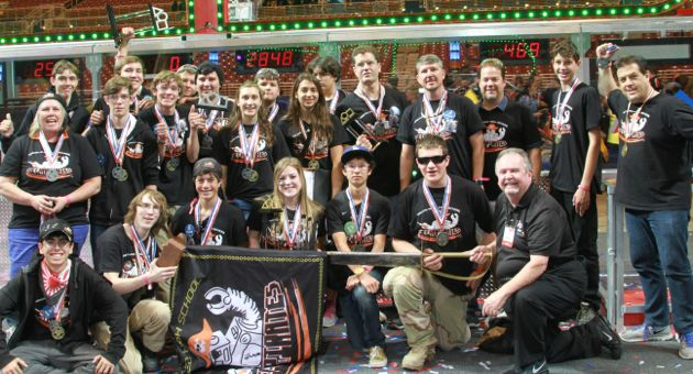The Santa Ynez Valley High School MechaPirates may have been rookies at the FIRST World Championships in St. Louis, but when it was all said and done, they proved they belonged there. (Santa Ynez Valley Union High School photo)