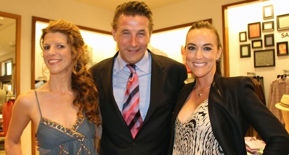 From left, Teddy Bear Cancer Foundation executive director Lindsey Guerrero, Saks & the City emcee and auctioneer Billy Baldwin and board vice chair Nikki Greene.