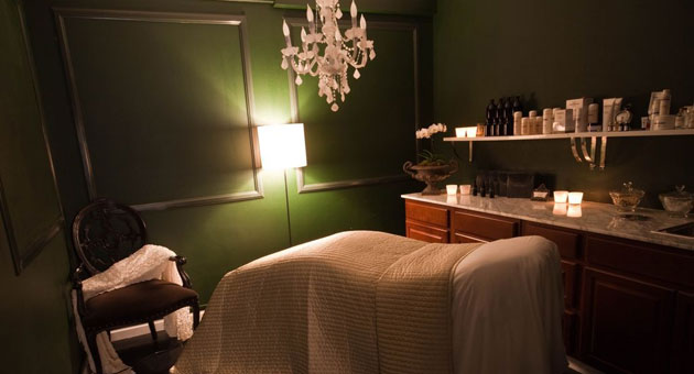 The salon's treatment rooms provide a relaxing atmosphere.