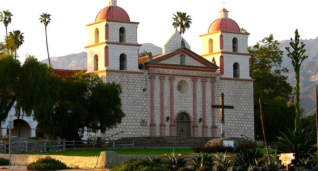 As with Santa Barbara itself, it all starts at the Mission for Tuesday