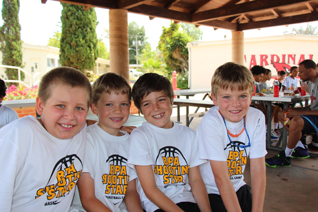 Diego Arroyo, 9, Alex Muir, 10, Aidan Warren, 10, and Jonathan Muir, 10.