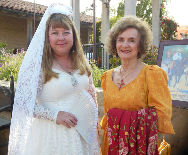 This year's Fiesta St. Barbara is Leeanne Figueroa, with Mary Louise Days.