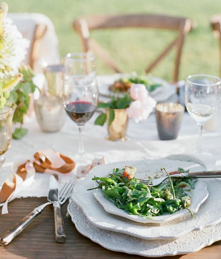 Not sure what to serve? Santa Barbara party planner Merryl Brown recommends going online for inspiration. 'There are many online resources that are filled with great recipes and ideas for menus and wine pairing,' she says. (Elizabeth Messina photo)