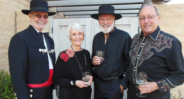 From left, La Fiesta del Museo honorary co-chairman Warren Miller, Sheri Overall, Thad MacMillan and Jack Overall.