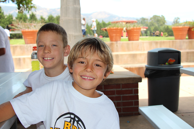 Troy Fitzgerald, 9, and Wyatt Miller, 8.