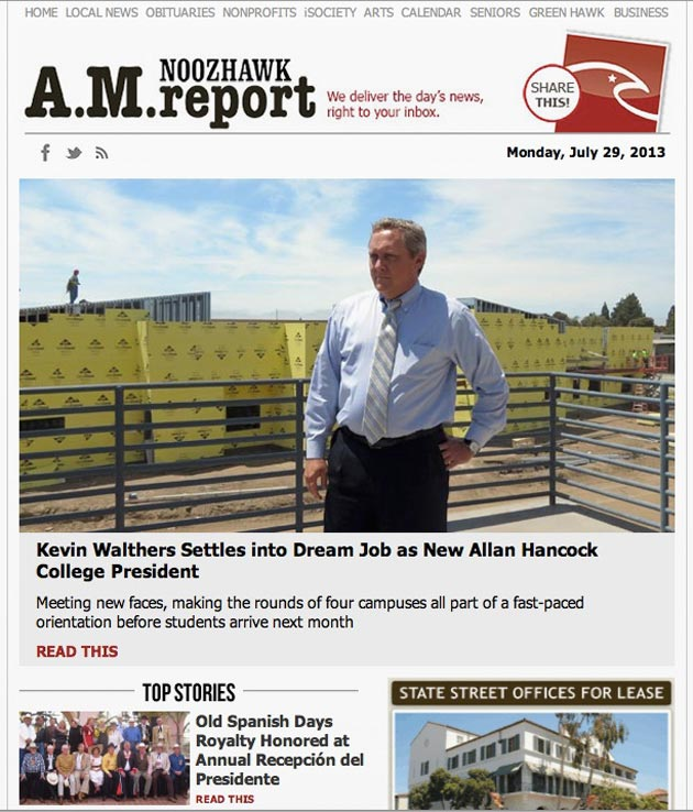 Start your day with Noozhawk's new A.M. Report.