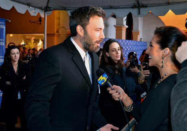 Actor Ben Affleck is interviewed by KEYT News' Shirin Rajaee on the Red Carpet.