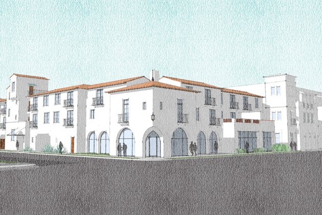 Santa Barbara's Planning Commission on Thursday unanimously endorsed a 30-apartment, mixed-use development proposed for the corner of Anacapa and Ortega streets downtown.