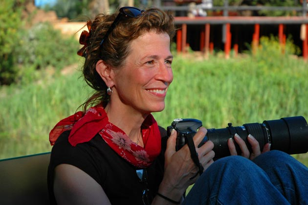 National Geographic photojournalist Annie Griffiths has traveled a long way from her first photo assignment of a sunrise on a Minnesota golf course. 'So often a big part of journalism is earning the right to be there, but once you're there, it's magic,' she says of the thrill her job gives her. (Linda Makarov photo)