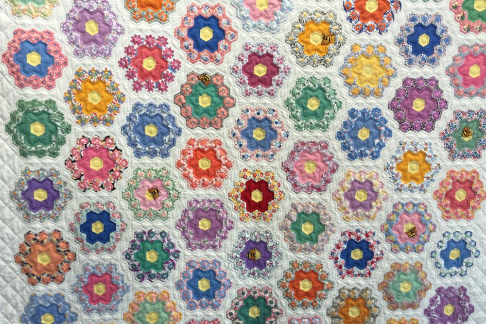 Intricate antique quilt squares make up the quilt that earned Best of Show honors at the Coastal Quilters Guild of Santa Barbara and Goleta expo.