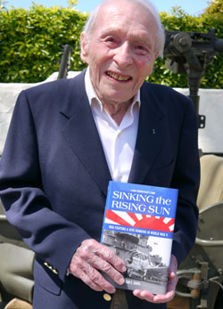 Santa Barbara resident William Davis wrote a book about his experiences as an ace Navy fighter pilot in World War II. (Mo McFadden photo)
