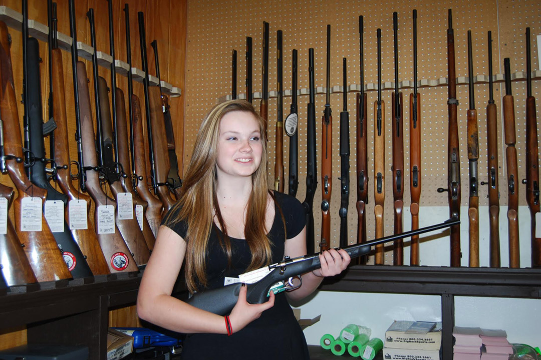 Grace Dunning received some gun training at Guns of Santa Barbara.