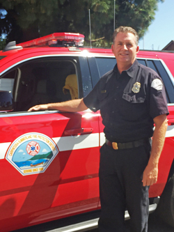 Battalion Chief Jim Rampton is serving as the interim fire chief for Carpinteria.