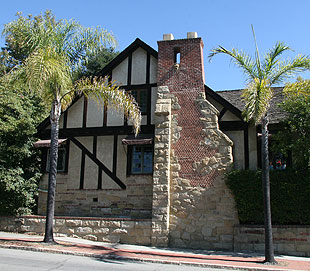 The English Tudor style makes the Chancellor House on East Mission Street an Upper Eastside landmark.