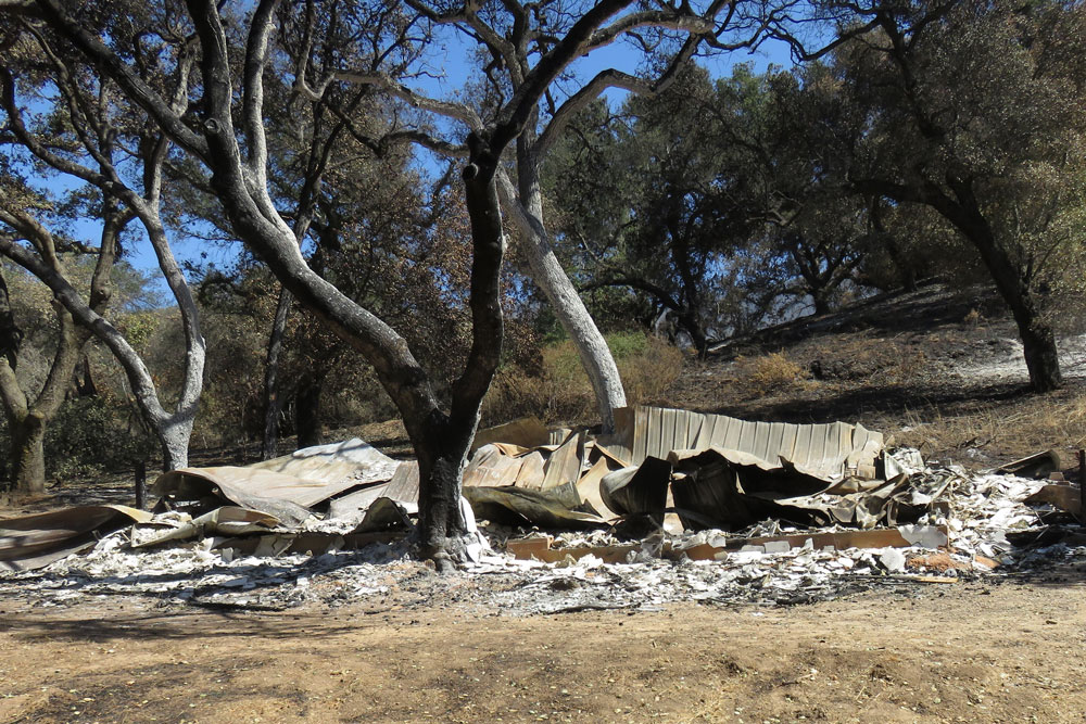 Several buildings at the Circle V Ranch Camp & Retreat Center in the Santa Ynez Valley were damaged or destroyed by the Whittier Fire. Officials with St. Vincent de Paul of Los Angeles, which operates the camp, are making plans to rebuild and re-open the youth camp in 2018.