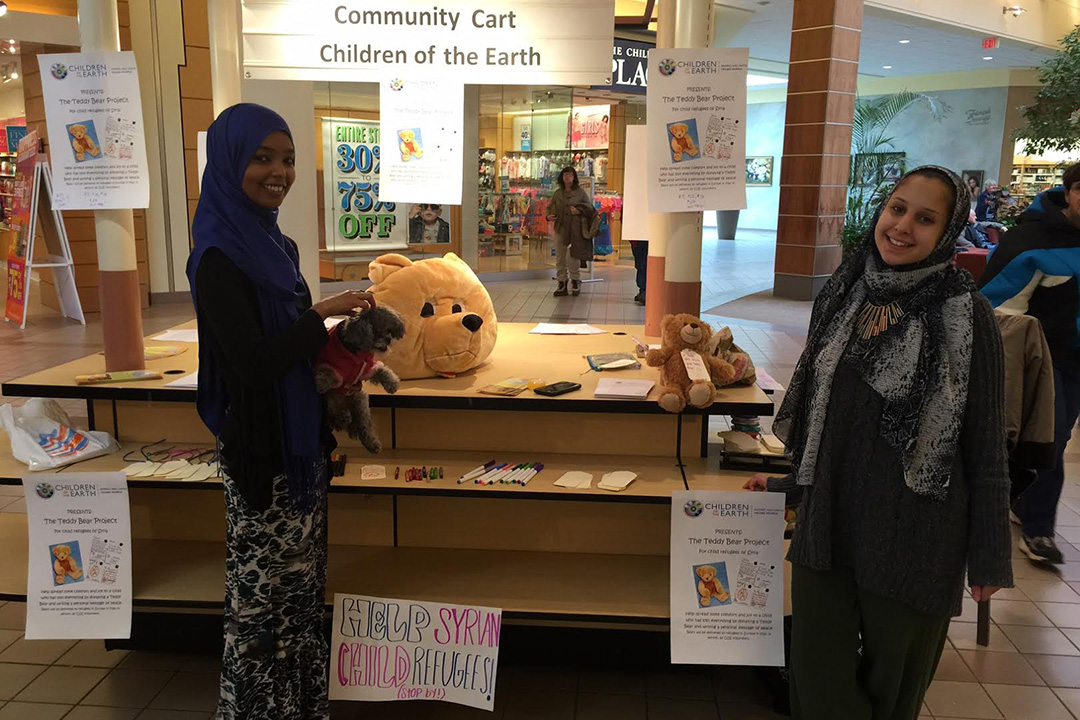 The Bear Hugs project has reached children around the world, including refugees in Syria.