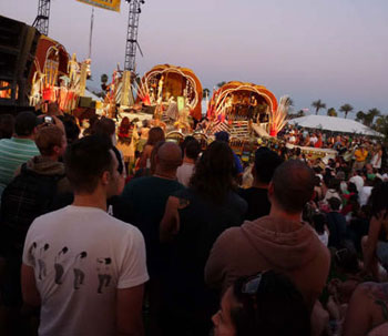 The Coachella Music & Arts Festival attracted enthusiastic crowds throughout the day.