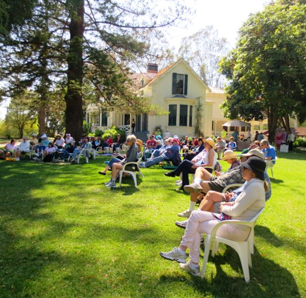 Stow House provides an authentic and lovely backdrop for the Goleta Valley Historical Society's Goodland Garden Gathering on Sunday at Rancho La Patera. (Rochelle Rose / Noozhawk photo)