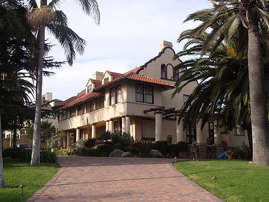 Architect Arthur Page Brown's Crocker Row House No. 1, at 2010 Garden St., is emblematic of the Mission Revival period in 1894.