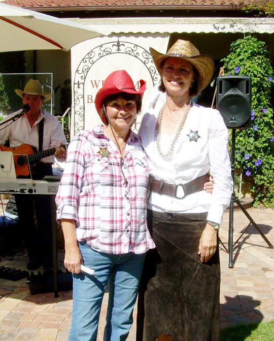 Suzi Ryan and Susan Hughes co-chaired the Santa Barbara Rescue Mission's 2011 Back to the Bayou fundraiser.