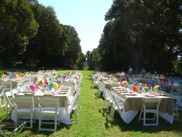 Dos Pueblos Orchid Farm estate provided a beautiful venue for Back to the Bayou.