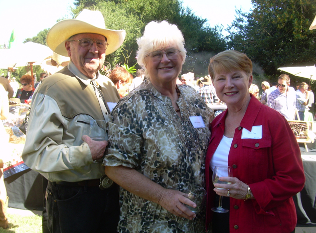 Bert and Gerri Willoughby with Laura Case.