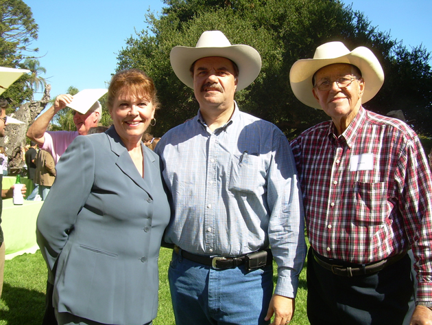 Santa Barbara County Sheriff Bill Brown — with wife Donna and  his dad, Bill — was this year's guest of honor at Back to the Bayou.