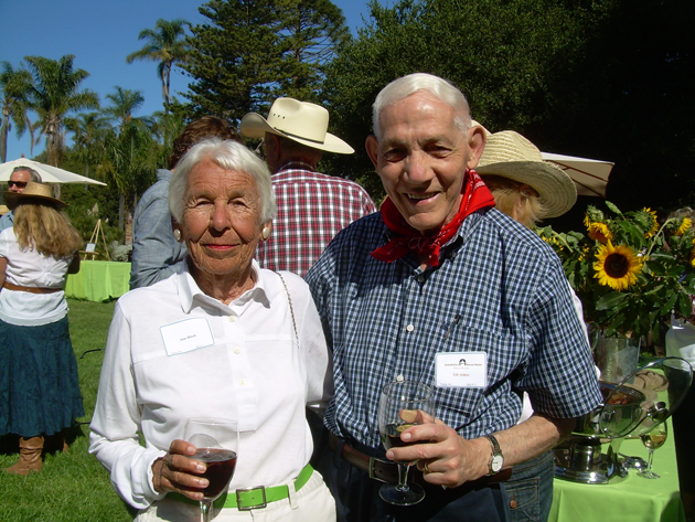 Ann Black with Dr. Gil Ashor, a longtime Bayou supporter.