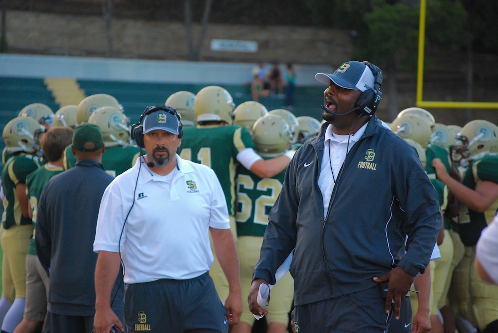 Santa Barbara head coach JT Stone leads the Dons into their season opener against Saugus on Friday night.