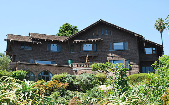 The 1911 Bentz House, at 1741 Prospect Ave., was designed by Greene & Greene in classic Craftsman style.