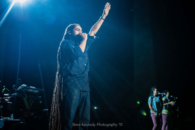 Damian Marley headlined at show Sept. 25 at the Santa Barbara Bowl, a tribute to his late father, Bob Marley.