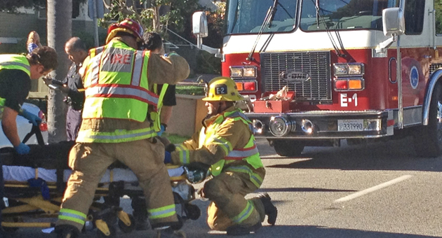 <p>One person was injured Monday afternoon in a three-vehicle accident on De la Vina Street, near Victoria Street, in downtown Santa Barbara.</p>