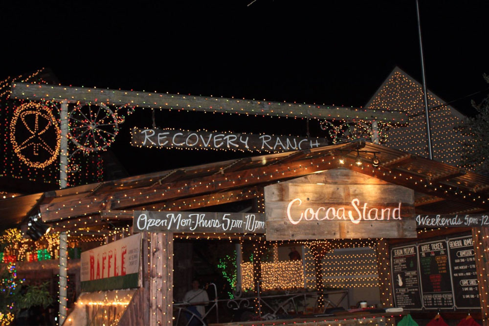 Holiday lights are still on, but a cocoa stand operated by Recovery Ranch at its Santa Ynez facility has been shut down due to complaints about it being a zoning violation.