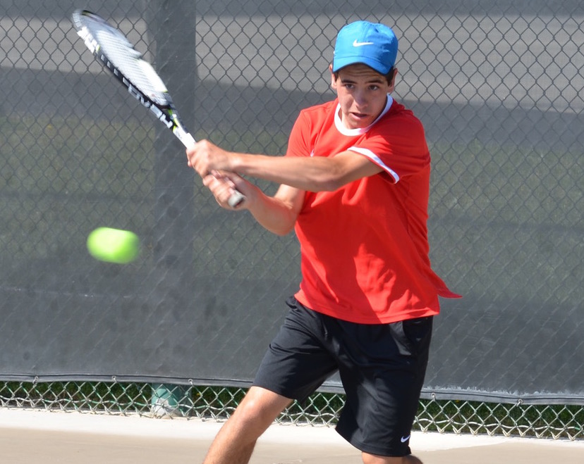 San Marcos No. 1 Dominik Stefanov stayed undefeated in singles and kept his team unbeaten.